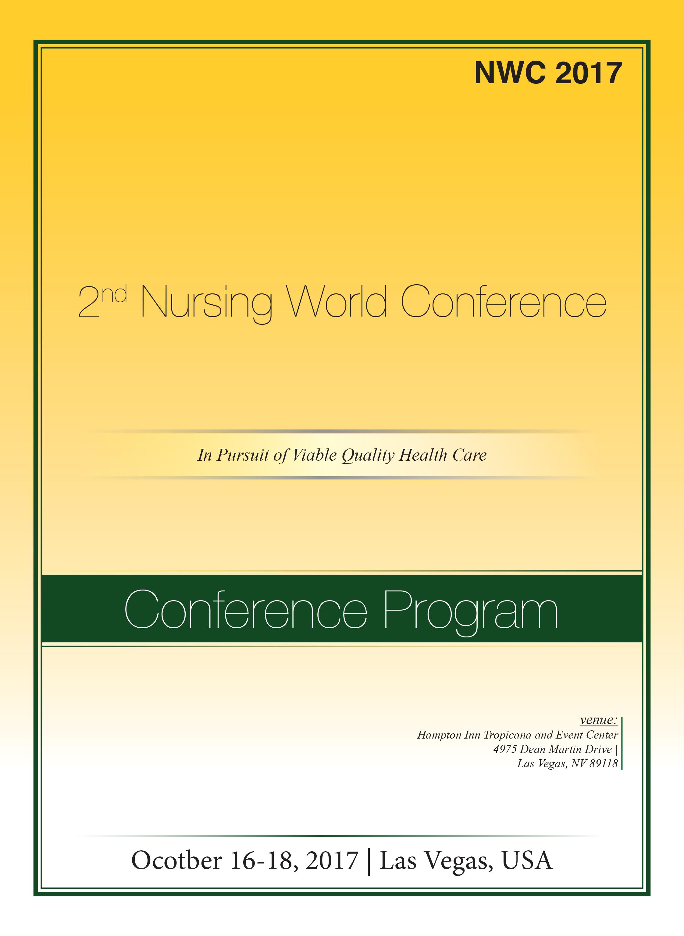 2nd Nursing World Conference   Las Vegas, USA Program