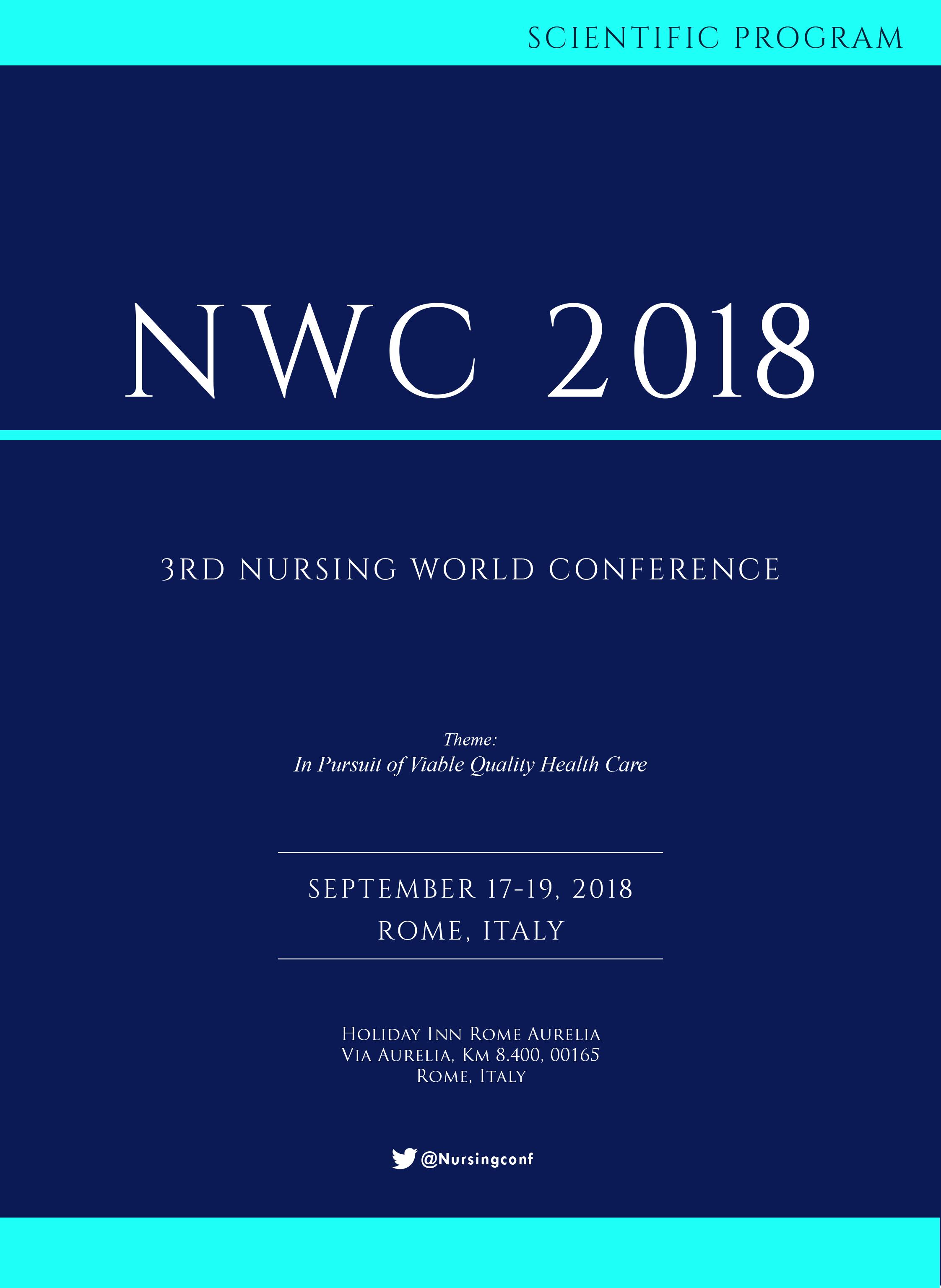 3rd Nursing World Conference   Rome, Italy Program
