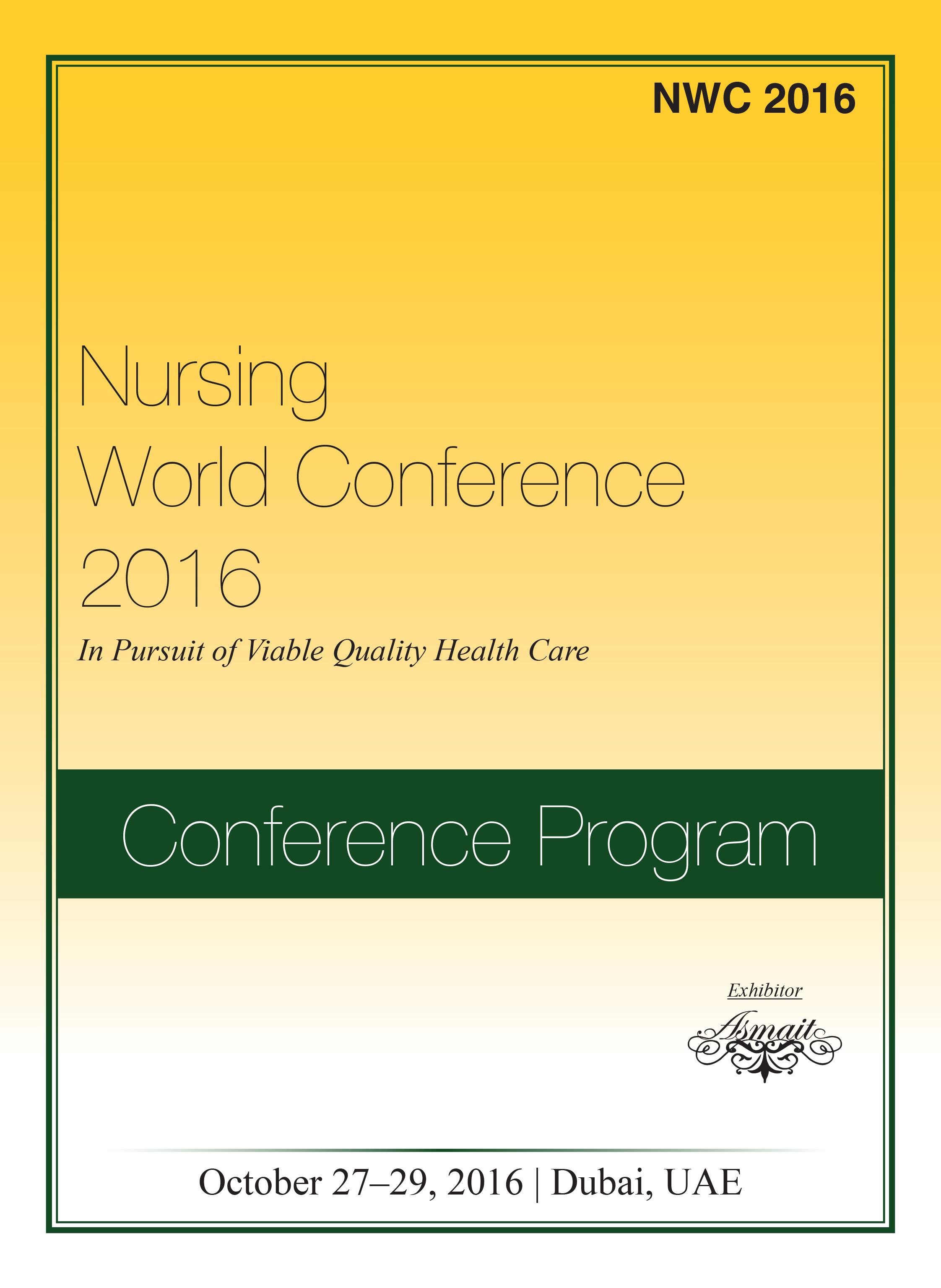 Nursing World Conference   Dubai, UAE Program