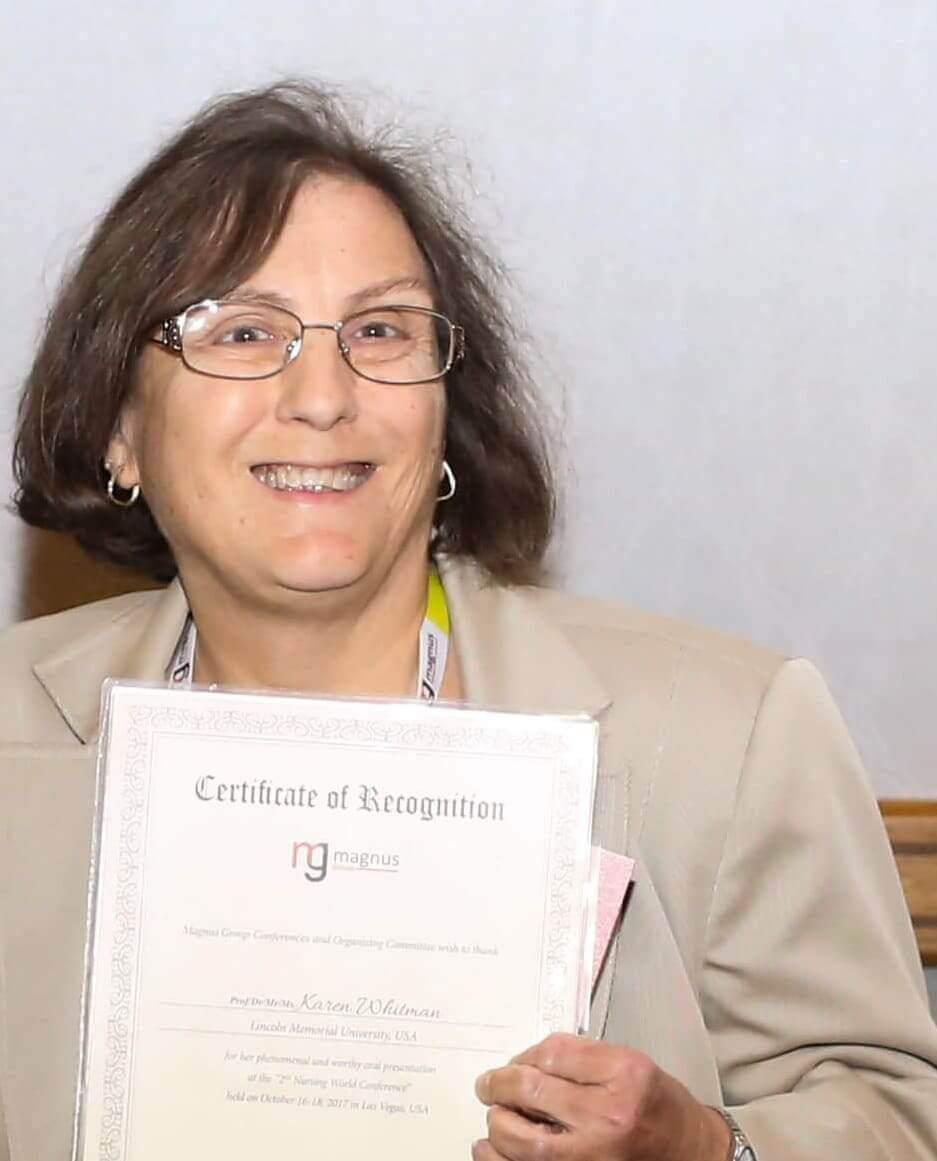 Speaker at top Nursing conference- Karen Whitman